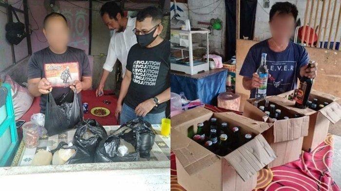 Razia Pekat, Polsek Banjarbaru Barat Sita Puluhan Liter Tuak dan Miras, 1 Mucikari Ikut Digaruk