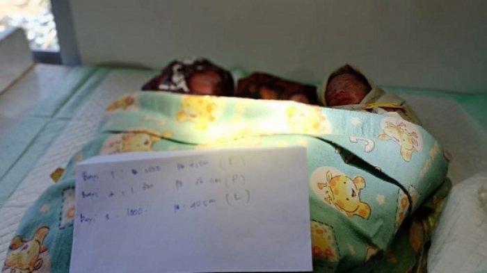 Hasniah Tak Menyangka Lahirkan 3 Bayi Kembar