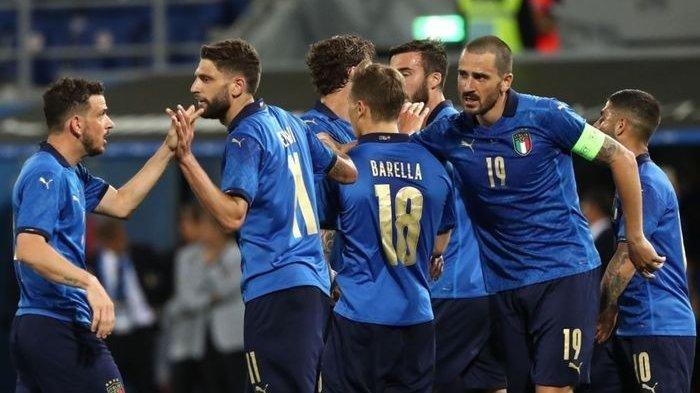 Timnas Italia asuhan Roberto Mancini yang menghadapi timnas Turki dalam laga pembuka EURO 2020, Sabtu dini hari tadi