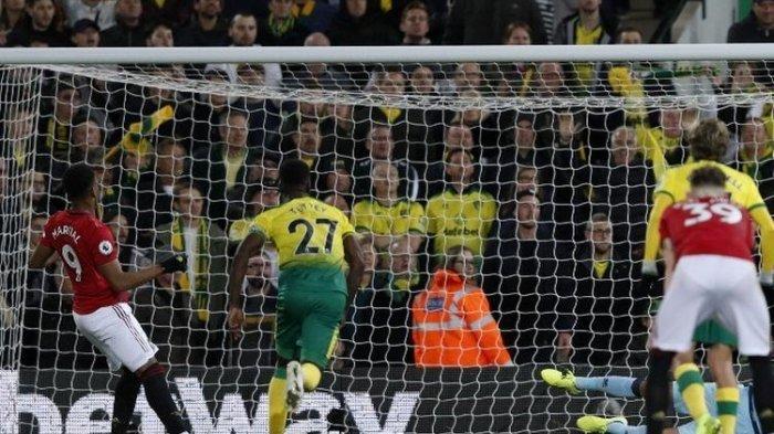 Liga Inggris, Manchester United Vs Norwich City, Marcus Rashford dan Anthony Martial Gagal Penalti