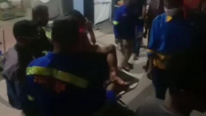 Kebakaran di Desa Terusan Raya Kapuas Kalteng, Rumah Dilalap Api Seorang Penghuninya Terluka Bakar