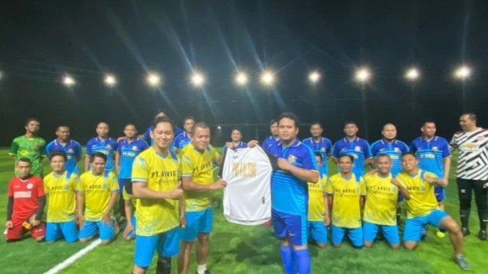 Tim Siwo PWI Kalteng Laga Persahabatan di Lapangan Mini Soccer Rumput Sintetis di Palangkaraya