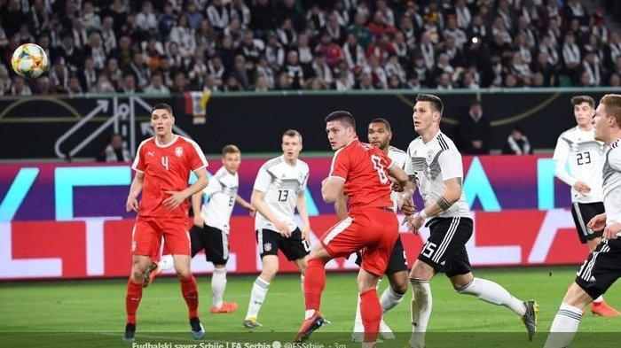 Laga Persahabatan Serbia Kontra Jerman Berbagi Sama Gol 2-2 di Babak Kedua