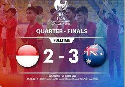 Indonesia Gagal ke Piala Dunia : Hasil Akhir Timnas U16 Indonesia vs Australia - Skor Akhir 2-3