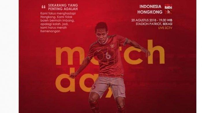 Live Streaming SCTV Timnas U-23 Indonesia vs Hongkong Asian Games 2018, Streaming Vidio.com