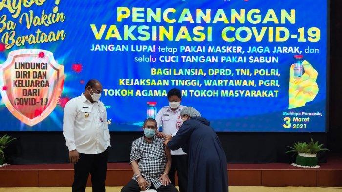Wabah Corona Kalsel, Tokoh Pers Kalsel Disuntik Vaksin Covid-19, Tak Terasa Apa-apa