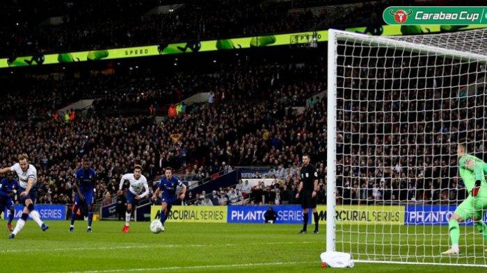 Semifinal Piala Liga Inggris -  Gol Tunggal Harry Kane Menangkan Tottenham Hotspur Vs Chelsea