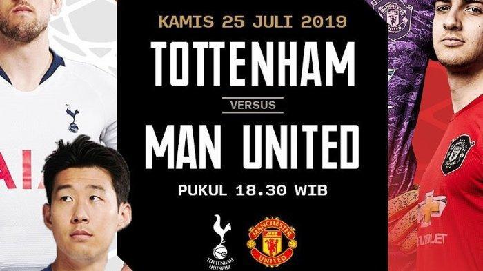 Tottenham vs Man Utd di ICC 2019, Live Streaming Mola TV Manchester United vs Tottenham, Live TVRI