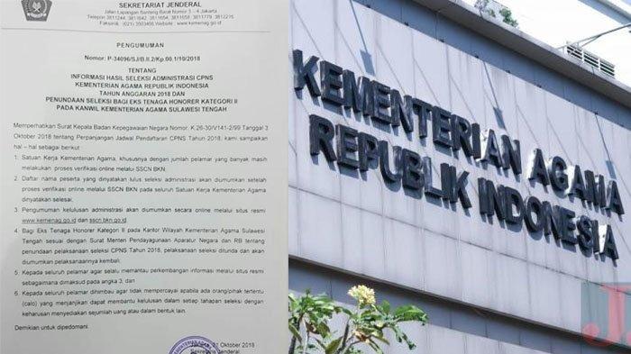 Kapan Pengumuman Hasil SKD dan Peserta SKB CPNS 2018 di Kemenag? Tetap Pantau di Sini!