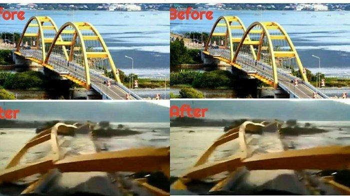 Jembatan Ponulele Palu Ambruk, Begini Kondisi Pemukiman di Bawahnya Usai Tsunami