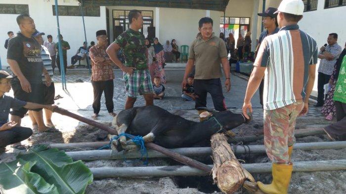Pegawai Disbun Kalteng Berbagi Daging Kurban dengan Warga