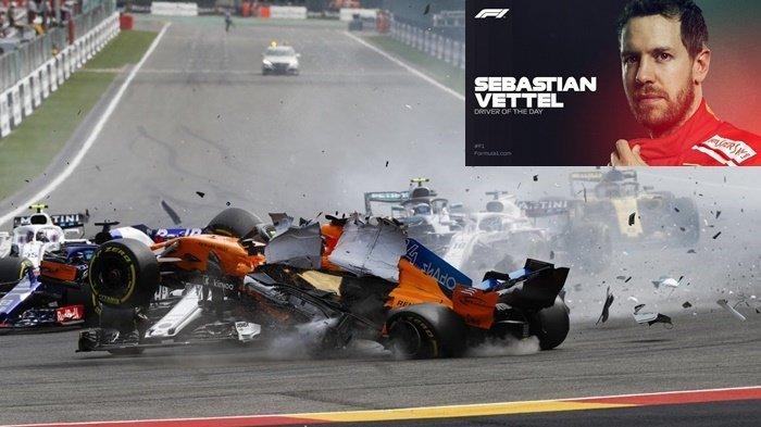 Diwarnai Insiden Tabrakan Beruntun, Sebastian Vettel Jadi yang Tercepat F1 GP Belgia