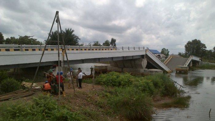 Ingat Kasus Jembatan Mandastana yang Ambruk? Sudah 7 Bulan, Penyidik Masih Lakukan Ini