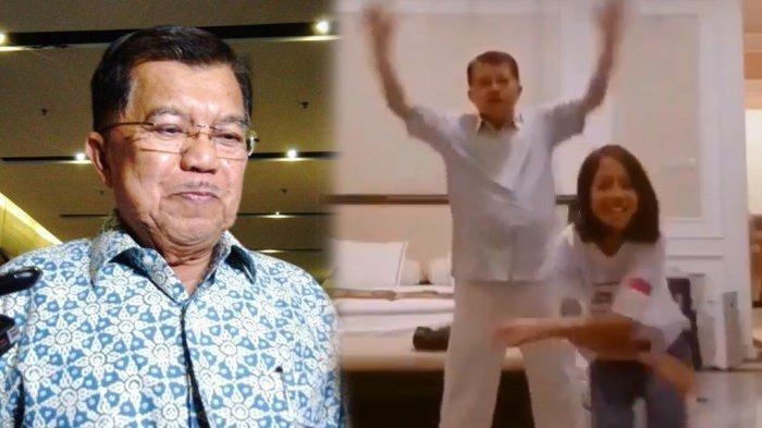 Jusuf Kalla ikut Goyang Tik Tok Bareng Cucunya, Ini Komentar sang Wapres