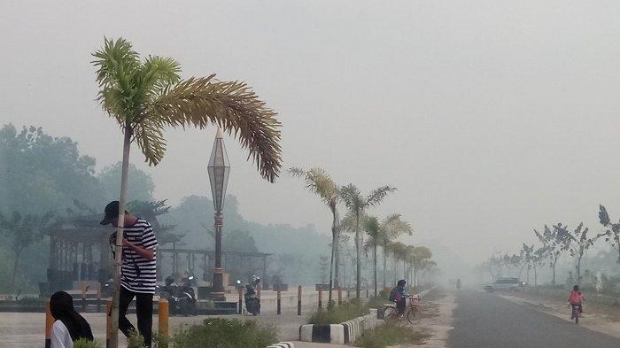 100 Titik Panas Terpantau di Kalteng, Warga Keluhkan Ini Akibat Kabut Asap