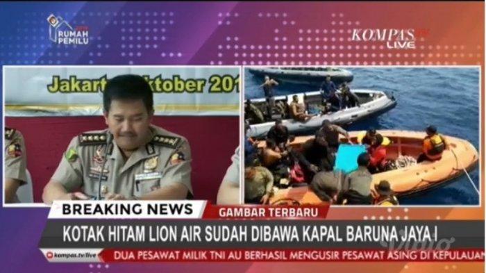Penemuan Kotak Hitam Pesawat Lion Air JT-610 di Perairan Karawang, Live di Kompas TV