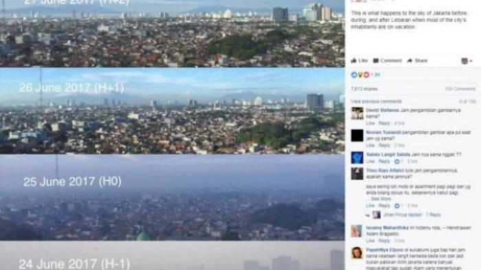 Begini Langit Jakarta, Sebelum dan Saat Ditinggal Pemudik