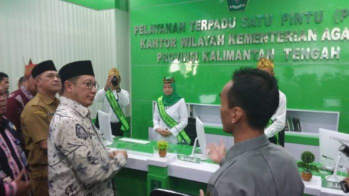 Menteri Agama Resmikan PSTP Kanwil Kemenag Kalteng, Ini Jenis Pelayanan yang Diberikan
