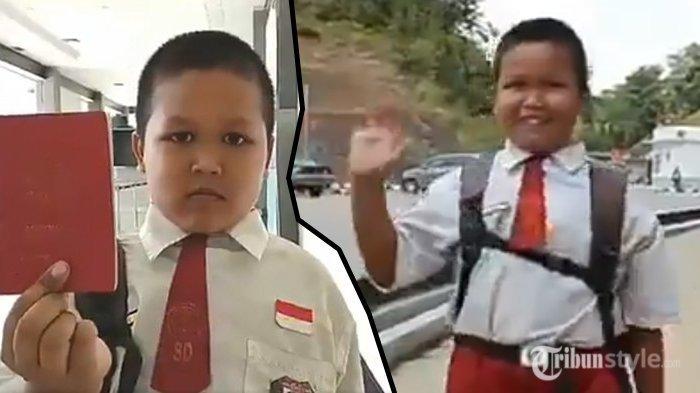 Tiap Hari Lintasi 2 Negara Demi Sekolah, Ini Cerita Nursaka, Bocah SD Berusia 8 Tahun