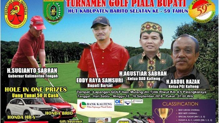 Berhadiah Honda H-RV, Brio, Uang, dan Lainnya, Open Turnamen Golf HUT Barito Selatan Bakal Digelar