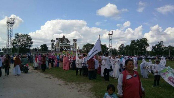 Ribuan Peserta Ikuti Pawai Tarhib di Sanaman Mantikei Palangkaraya