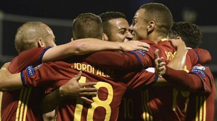 Setelah Cukur Albania, Timnas Spanyol Pastikan Tiket ke Final Piala Dunia 2018