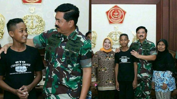 Bertemu Panglima TNI, si Pemanjat Tiang Bendera Asal Maluku Ditawari Dapat Beasiswa