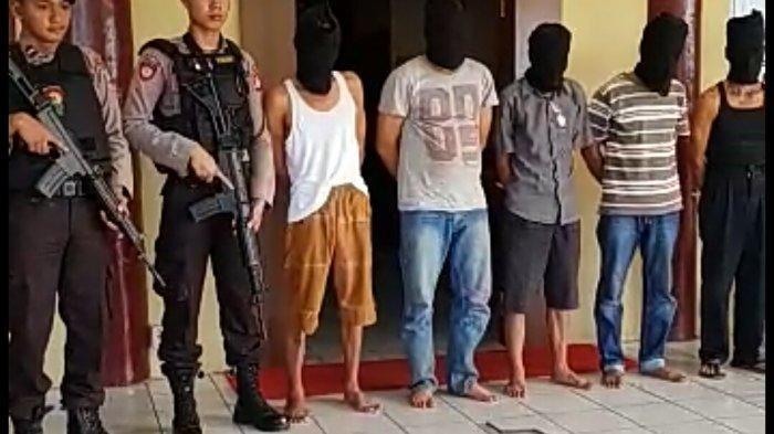 Bawa Pistol Rakitan dan Senjata Tajam, Polisi Amankan 5 Pria Asal Kotim di Bukitrawi