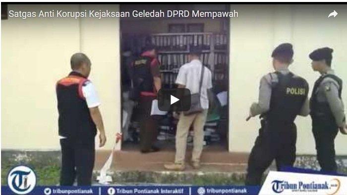 VIDEO: Dikawal Polisi Bersenjata Lengkap, Satgas Anti Korupsi Geledah Kantor DPRD Mempawah