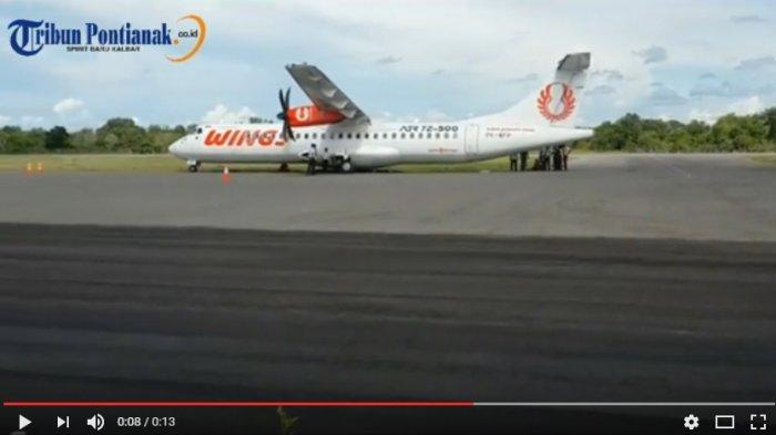 Pesawat Wings Air Tujuan ke Pangkalanbun Tergelincir di Bandara Ketapang
