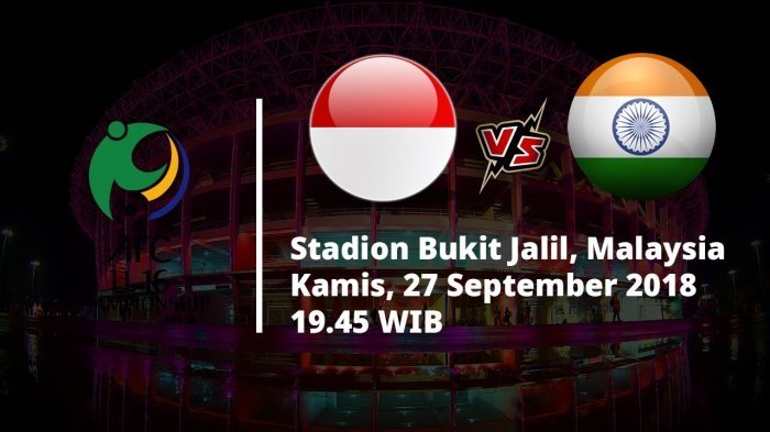 Live Streaming Piala AFC U-16 2018 Timnas U-16 Indonesia vs India, Lihat Link Live Streaming MNC TV