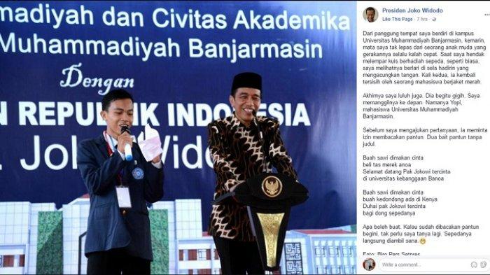 VIDEO: Lucu! Pantun Rayuan Anak Banua Ini Bikin Presiden Jokowi 'Luluh Lantak'