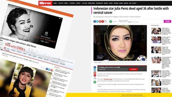 Kematian Julia Perez Mendunia, Jadi Berita Sejumlah Situs Media Asing