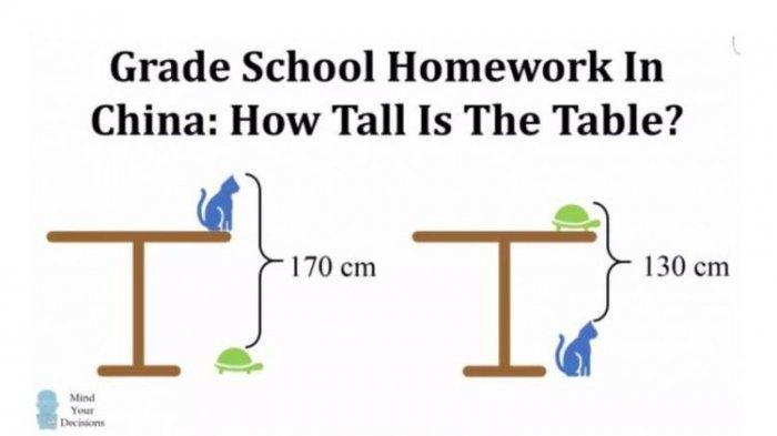 Bisakah Anda Menjawab Soal Matematika Anak SD di China Ini? Banyak Orang Gagal Menjawabnya