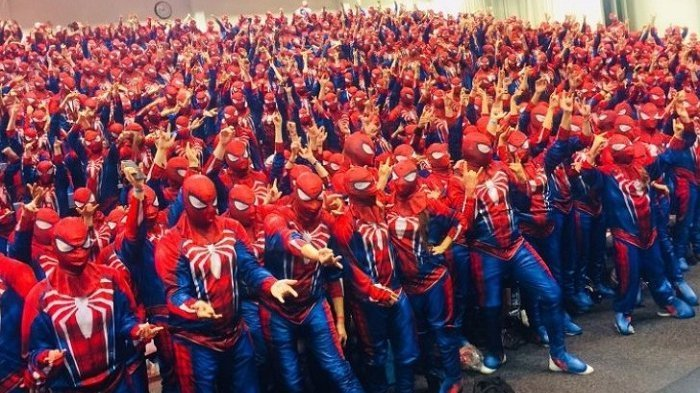 Pecahkan Rekor Dunia, 547 Spiderman Berkumpul di Swedia