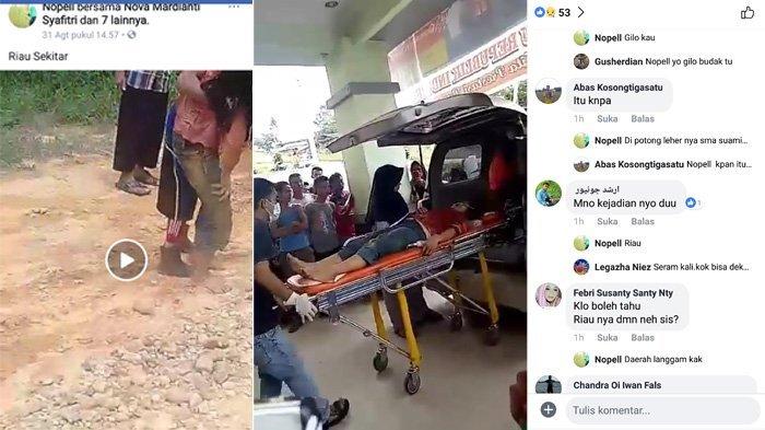 Suami Bacok Istri, Beredar Video Wanita Bersimbah Darah Setelah Jalan Kaki 2 Km