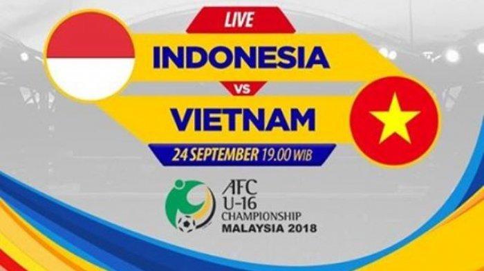 Indonesia vs Vietnam Berakhir 1-1 di Grup C Piala AFC U-16 2018, Ini Cuplikan Gol yang Tercipta