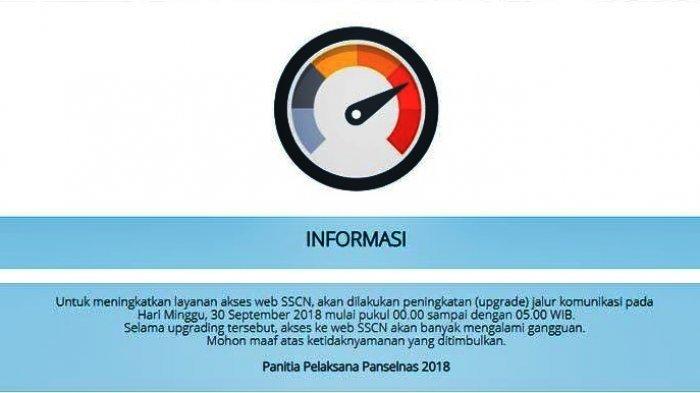 30 September Pendaftaran CPNS 2018 Akan Terganggu, Ada Upgrade Web Sscn.bkn.go.id