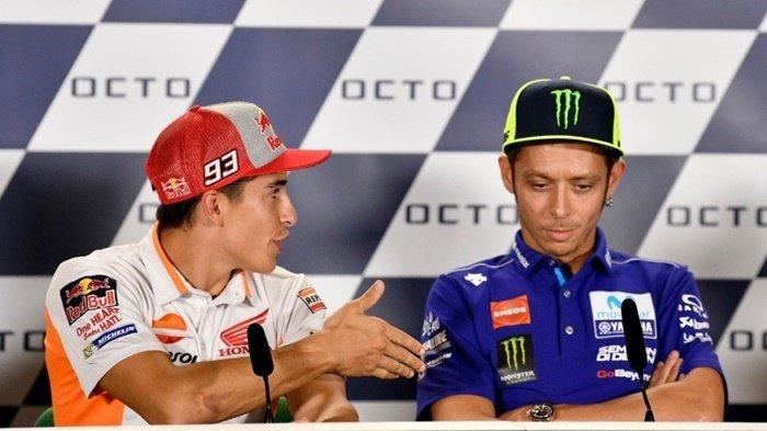 Tolak Jabat Tangan Marc Marquez di Preevent GP San Marino, Valentino Rossi Akhirnya Minta Maaf