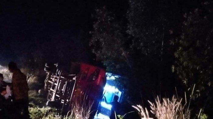 Bus Angkut Jemaah Calon Haji dari Palangkaraya Terguling di Pulangpisau, Polisi Sebut Sopir Lalai