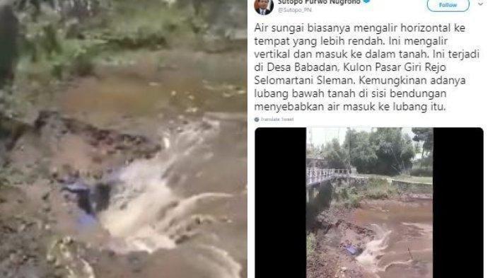 Heboh Air Sungai Mengalir secara Vertikal, Ini Penjelasan Sutopo Purwo Nugroho
