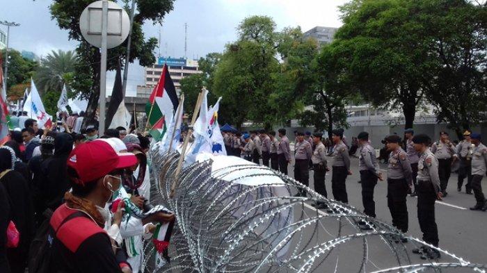 Buruh KSPI Datang Setelah Massa Aksi Bela Palestina Mulai Bubar
