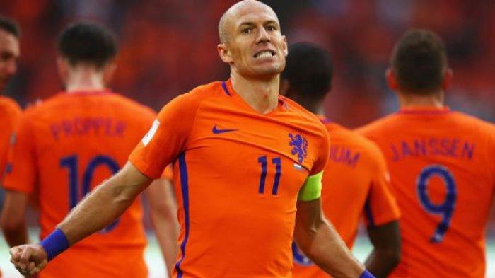 Gagal Bawa Belanda ke Piala Dunia, Arjen Robben Umumkan Gantung Sepatu dari Timnas