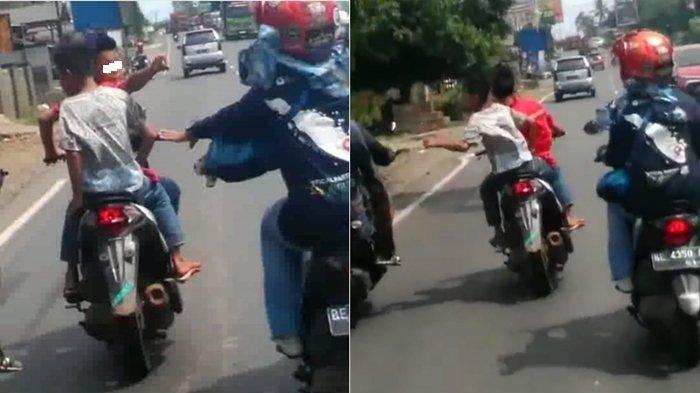 Dua Bocah Ini Disebut Jadi Tukang Begal, Lihat Video Aksinya di Jalanan