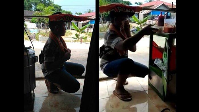 Bikin Nangis! Bocah Baru Lulus SD Jadi Tukang Bakso Keliling, Video Usap Keringat Viral