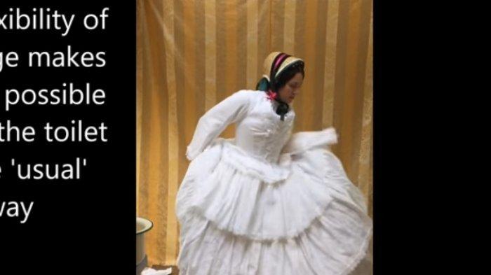 VIDEO: Dulu Wanita Inggris Berbusana Seperti Ini, Gimana ya Jika Mendadak Kebelet?