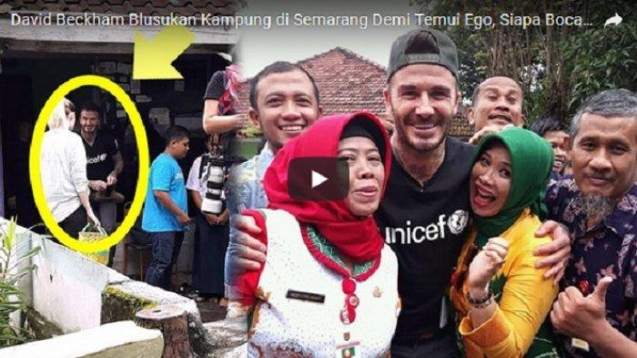 VIDEO: Turun dari Jet Pribadi, David Beckham Blusukan Kampung di Semarang Demi Bocah Ini