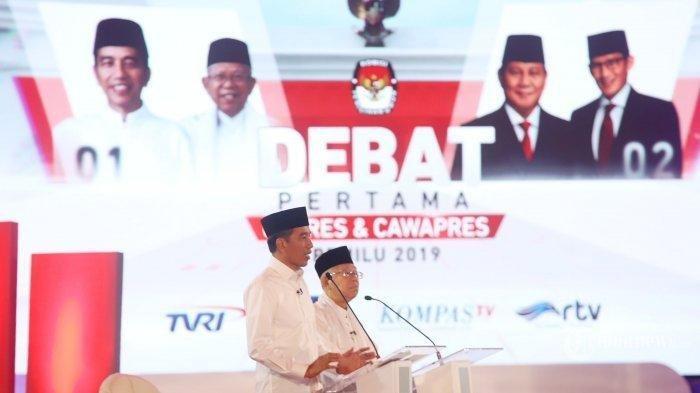Debat Perdana Pilpres 2019: Jokowi Mendominasi Pembicaraan, Ma'ruf Amin Banyak Bilang 'Cukup'