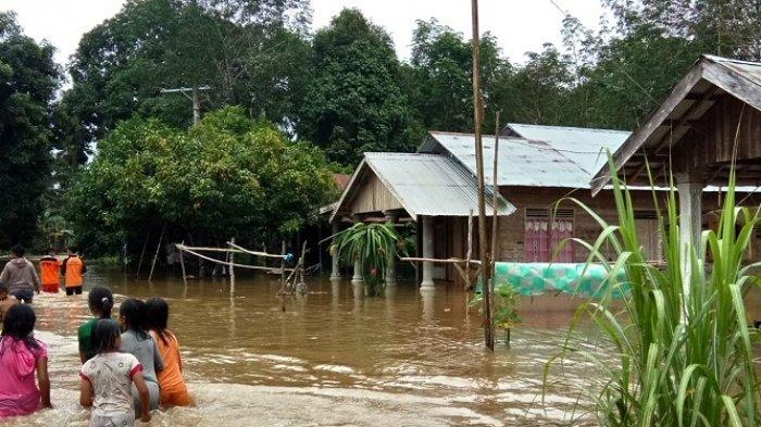 Ratusan Rumah di Dua Desa Awayan Balangan Tergenang, Begini Kondisi Terakhirnya