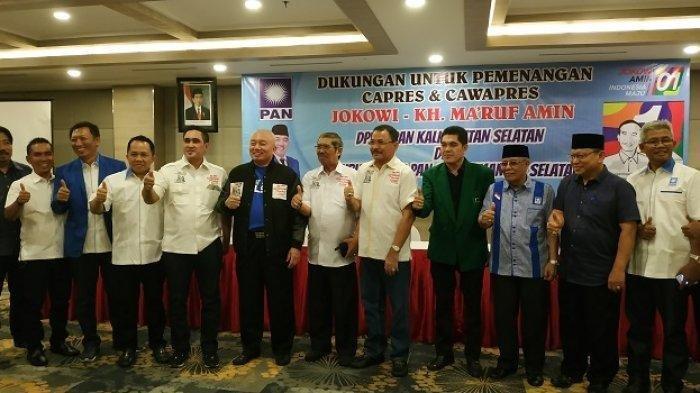 PAN Kalsel Dukung Jokowi-Ma'ruf, Muhidin: Melawan Arus, PAN Sulit Menang